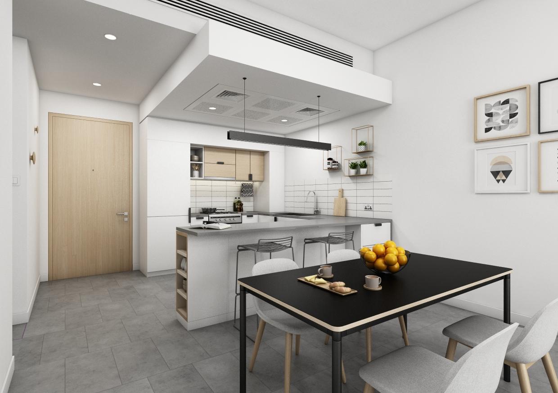 Ellington 2 Bedroom Apartment Living Area