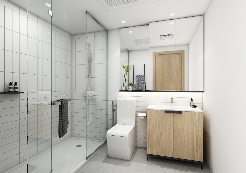 Ellington 1 Bedroom Apartment - Bathroom View