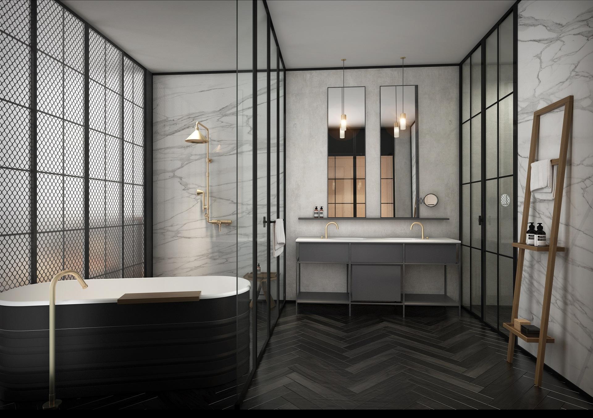 Exec Suite 2 Bedroom - Bathroom View