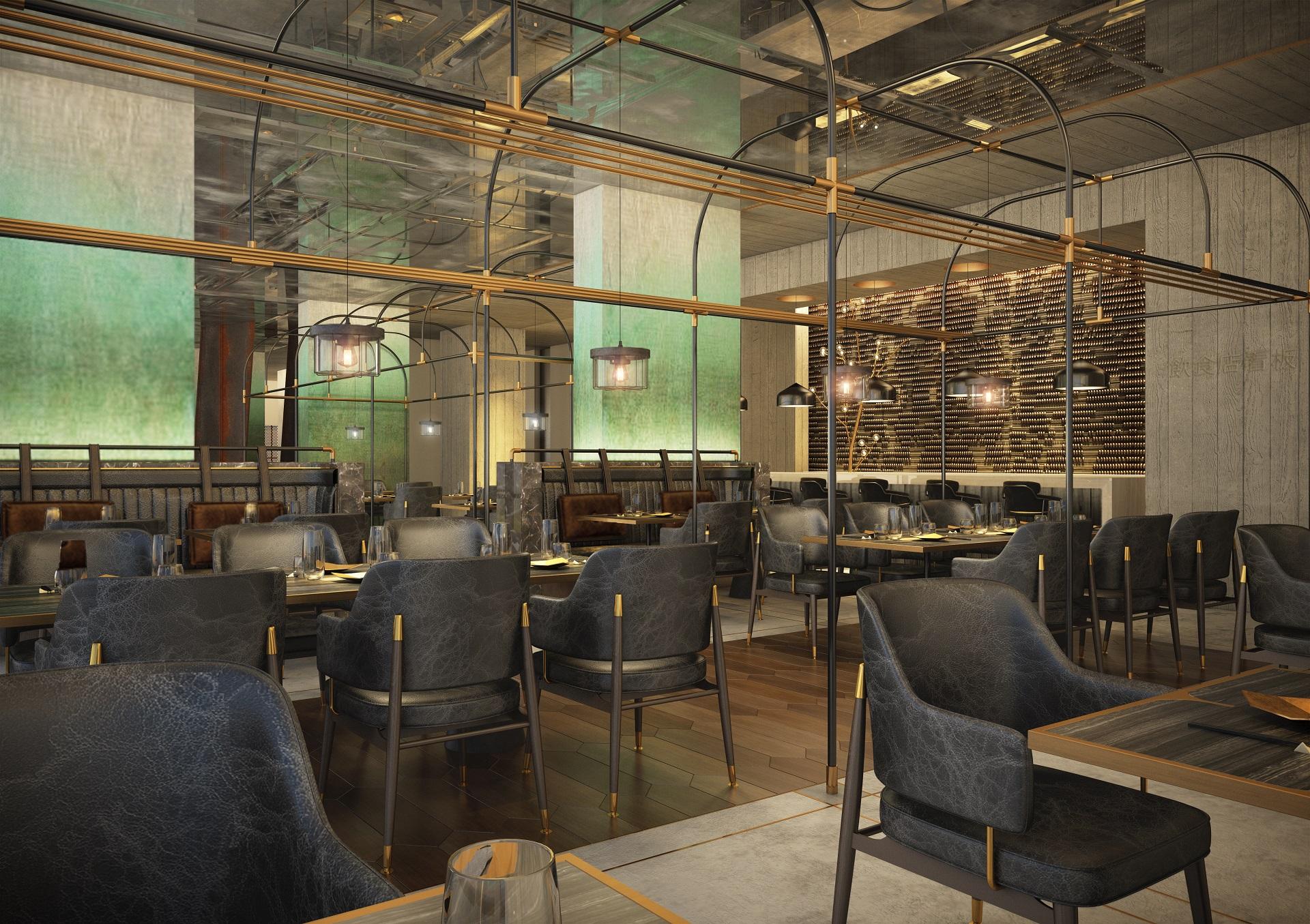 Mankhool Apartment - Rooftop Restaurant - Indoor Dining