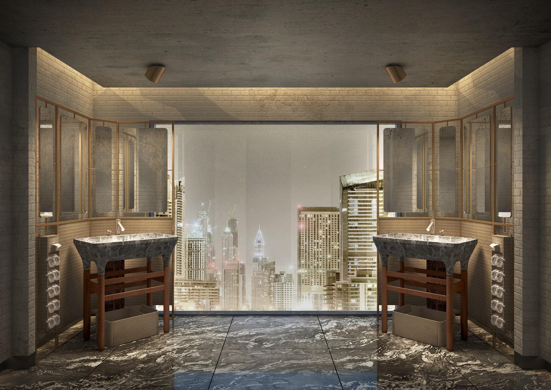 Mankhool Apartment - Rooftop Restaurant - Washroom