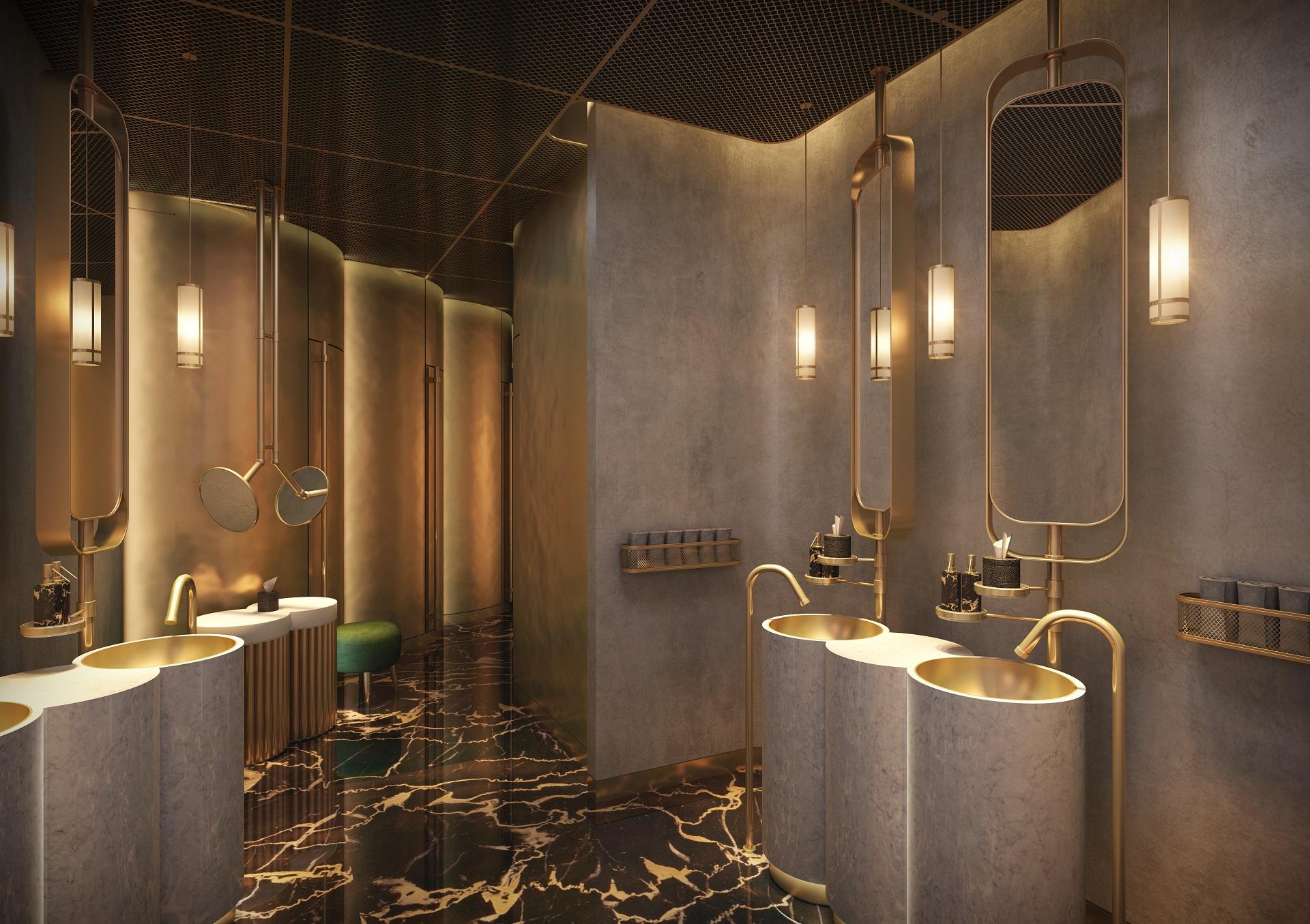 Mankhool Apartment - Rooftop Restaurant - Washroom 2